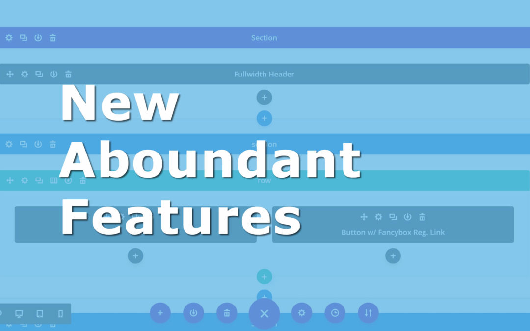 New Additions to Aboundant Church Websites